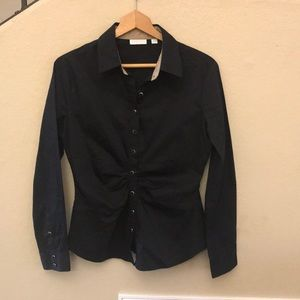 New York & Company black button up shirt medium
